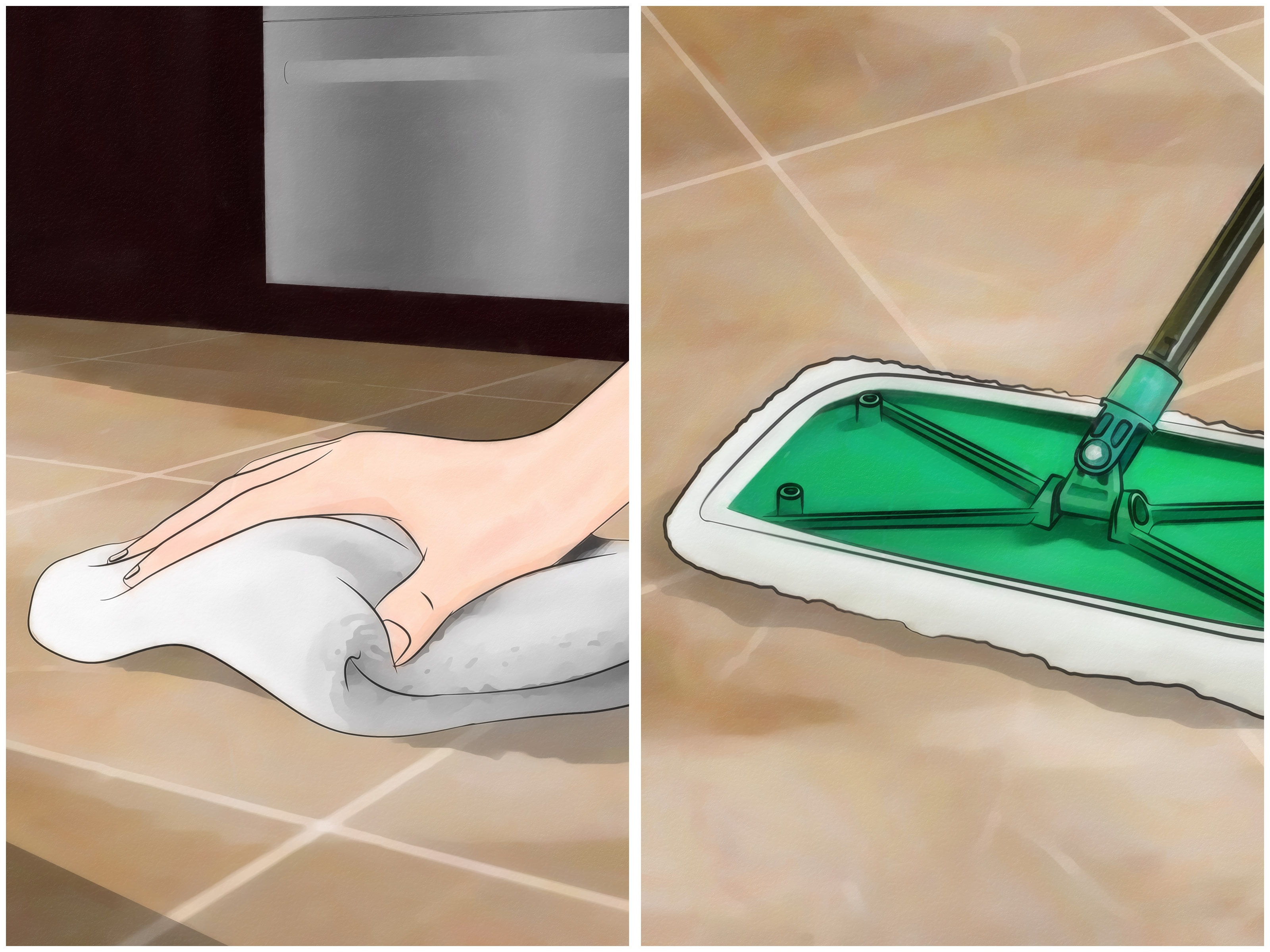 How To Clean Tile Floors Cleaned Perfection